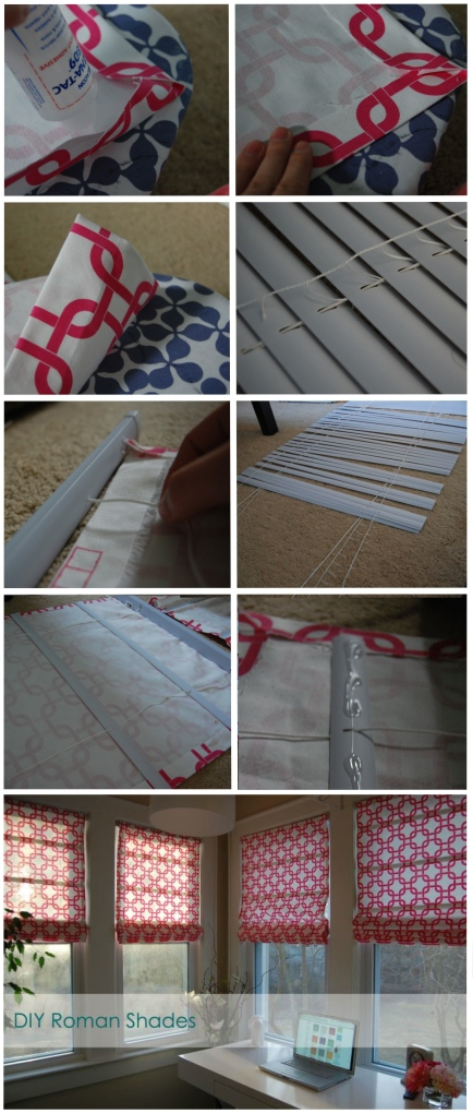 DIY Roman Shades @ Made2Style