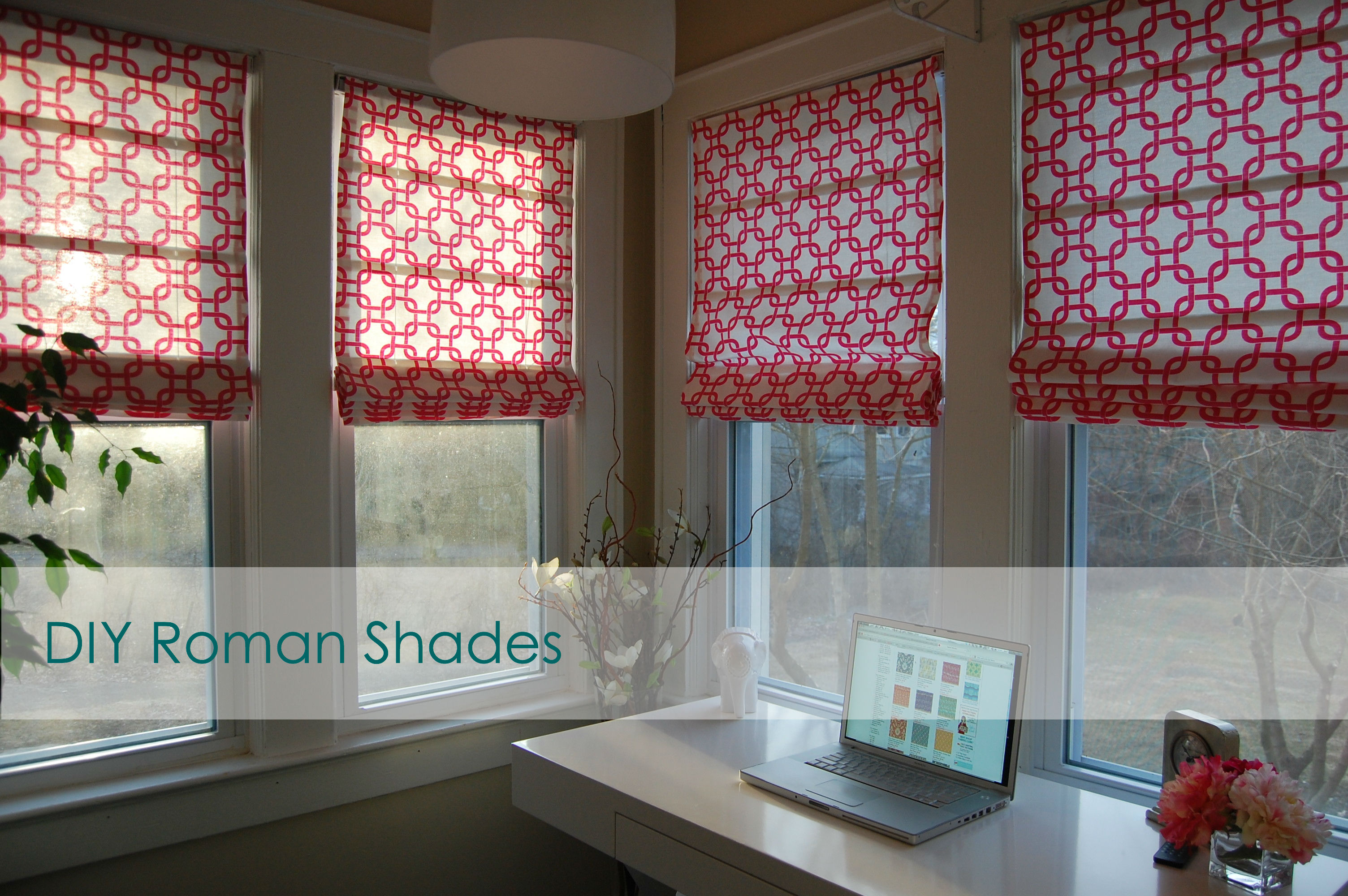 flashback friday diy no sew roman shades made2style. Black Bedroom Furniture Sets. Home Design Ideas