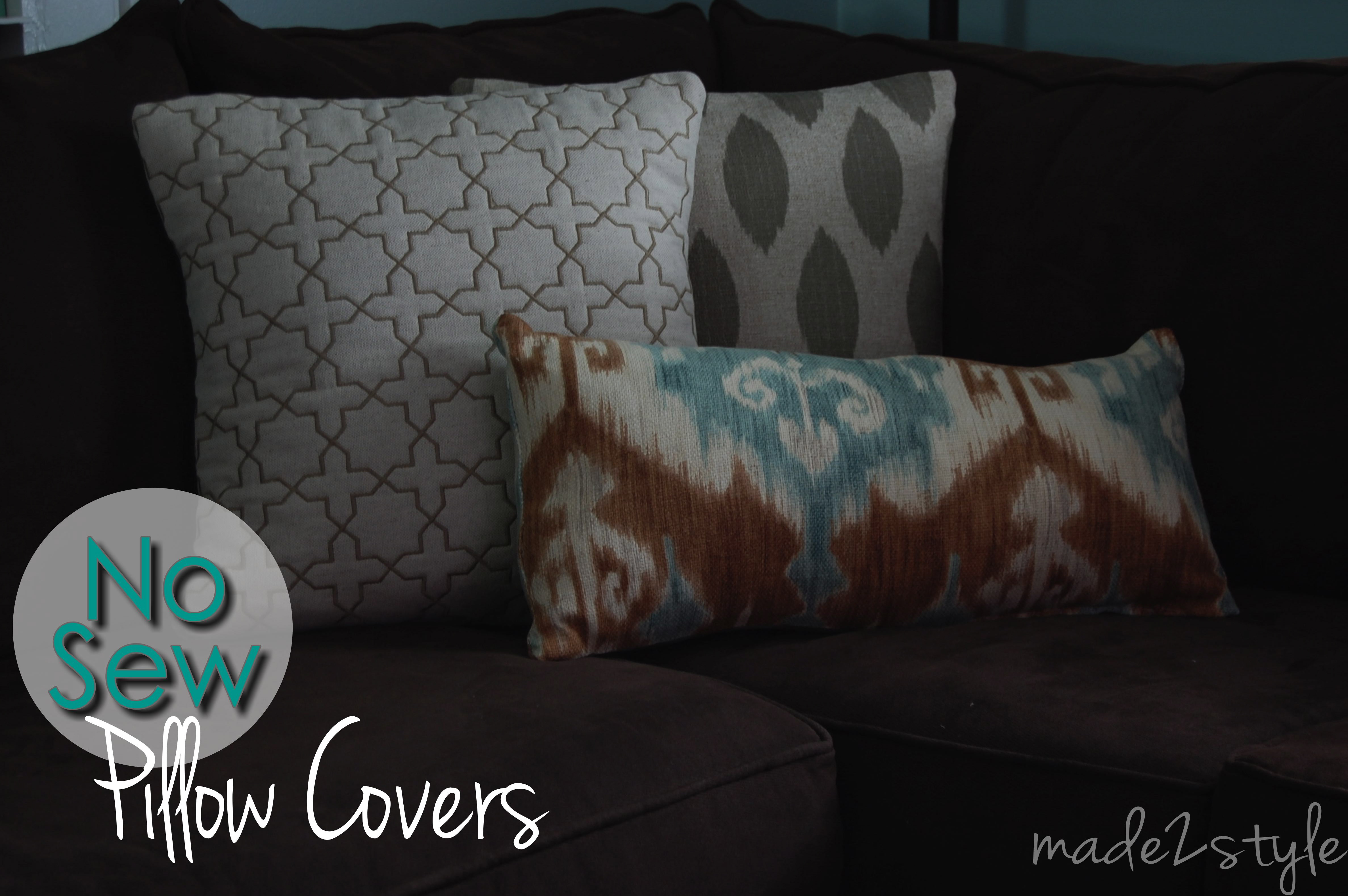 No Sew Decorative Pillow Covers : No Sew Pillow Covers ? Made2Style