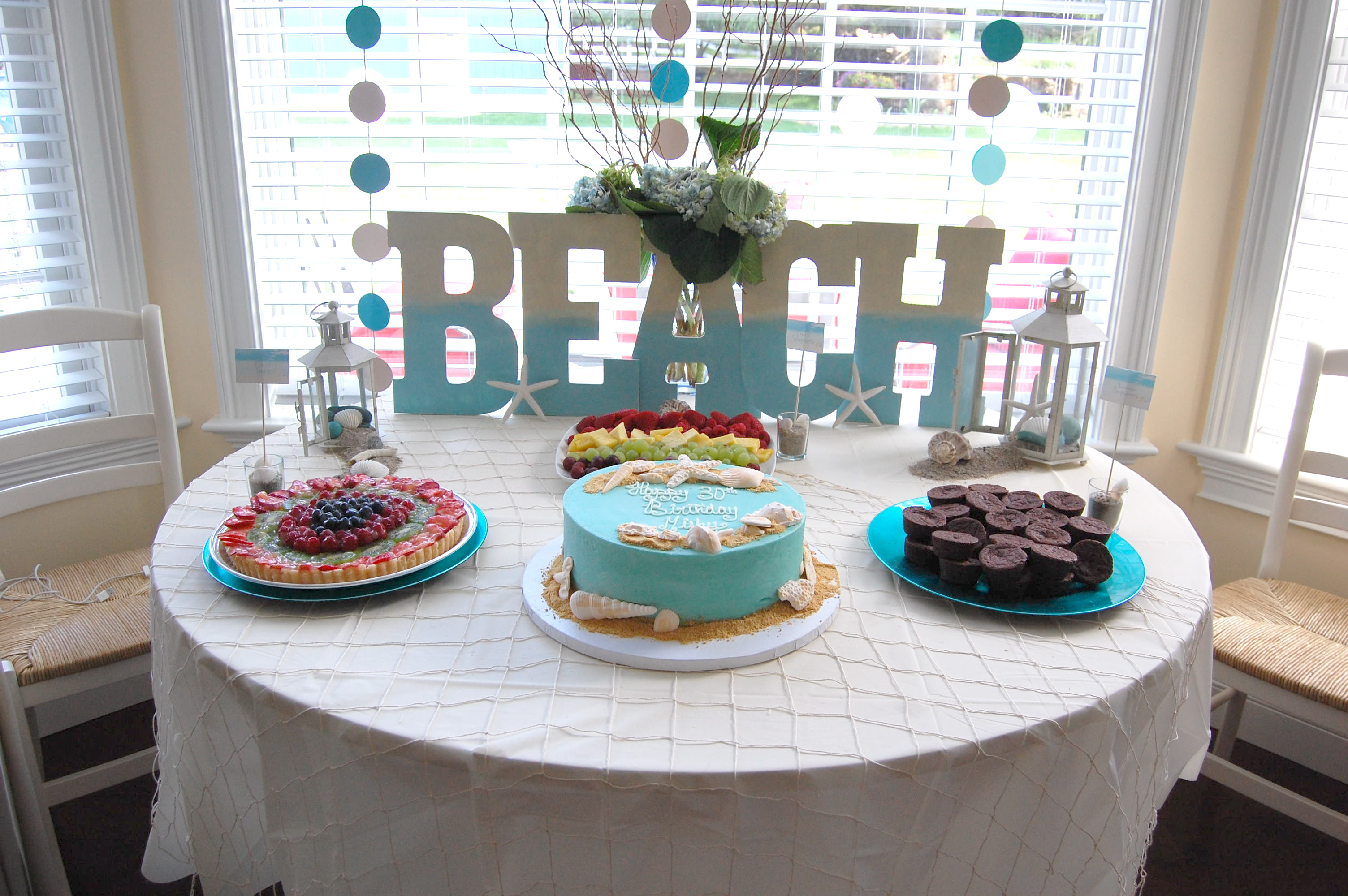 Beach theme party made style