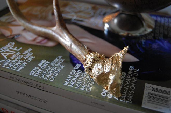Gold Leaf Antler