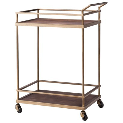 Gold Mirrored Target Bar Cart Hack Made2style