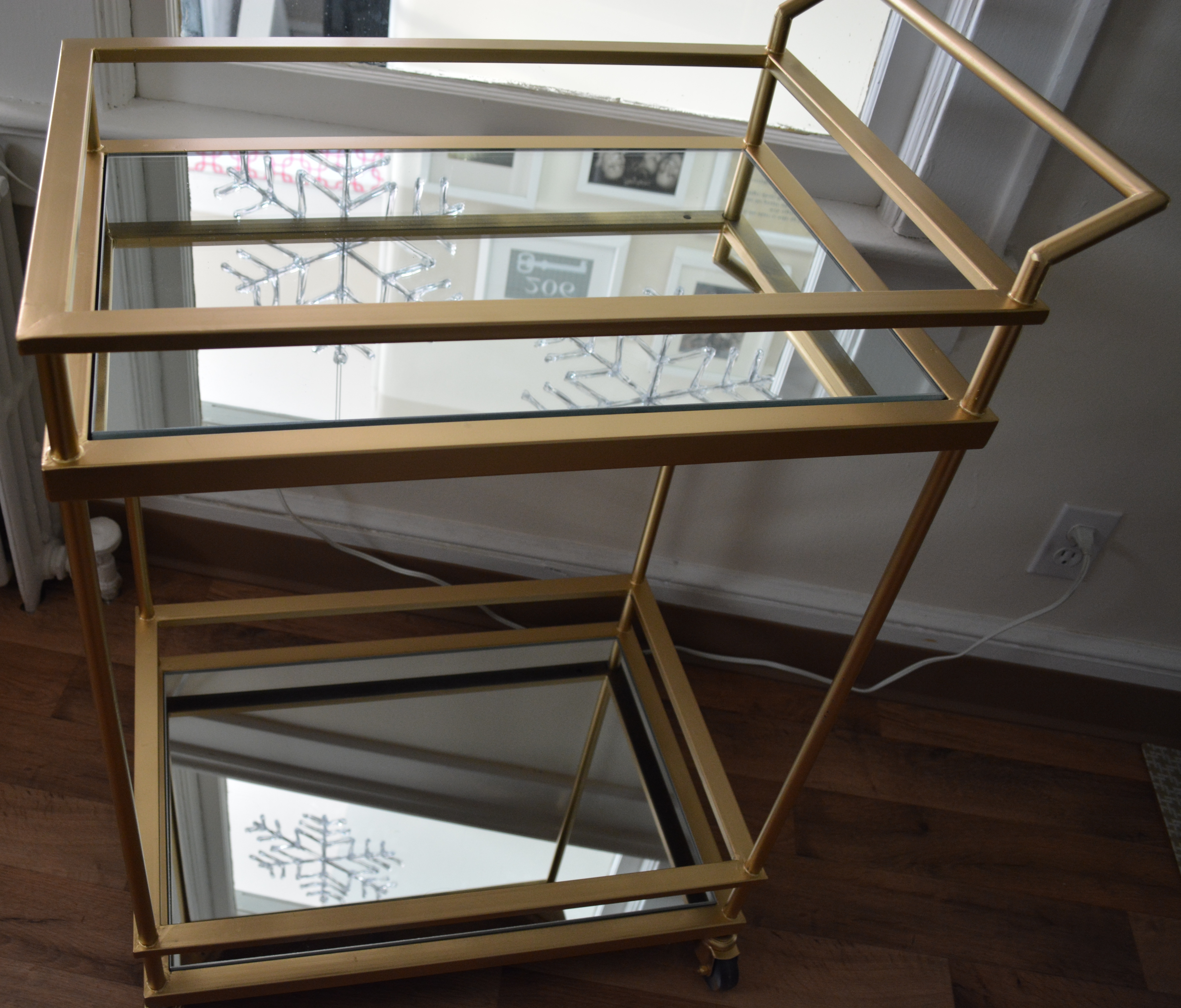 Gold amp Mirrored Target Bar Cart Hack Made2Style
