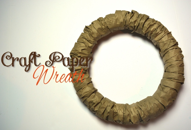 Craft Paper Wreath2