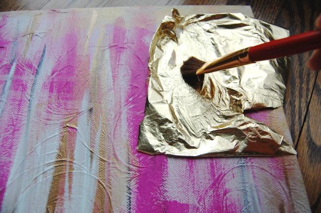 Gold Leaf Canvas Art