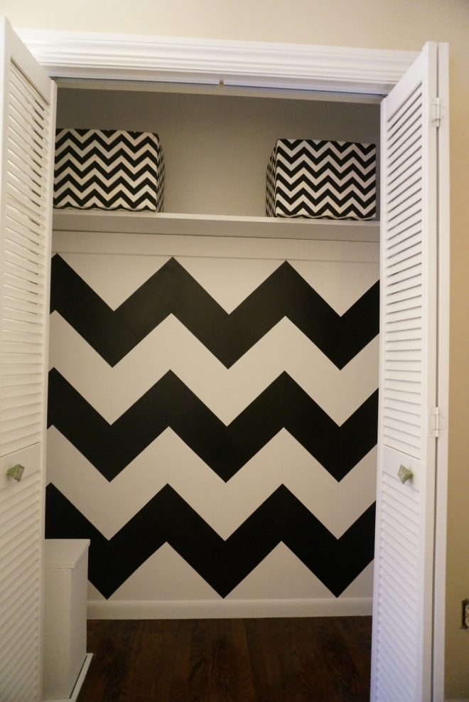 Painting a Chevron Wall