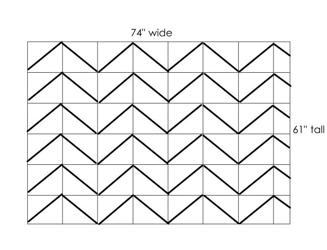 Painting a chevron wall made2style for Painting lines on walls