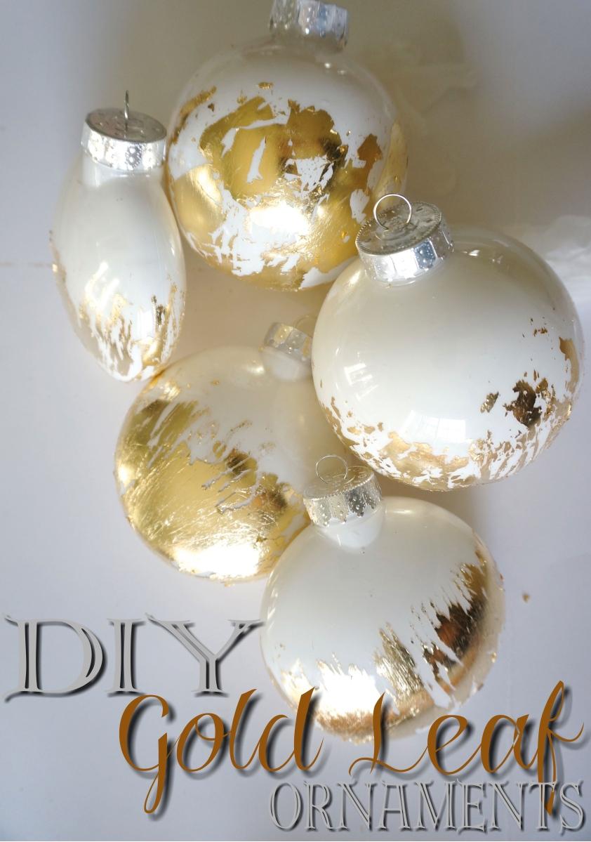 DIY Gold Leaf Ornament