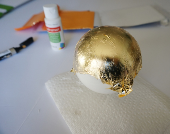 DIY Gold Leaf Ornament