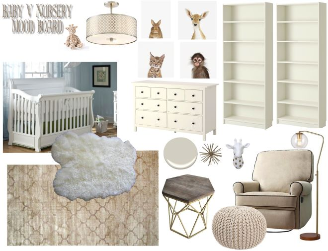Gender Neutral Nursery Mood Board